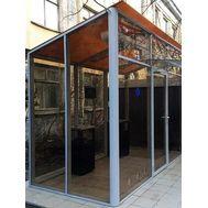 Уличная кабина для курения ArtSV УК-БФ10 3х2х2,8м, фото 1