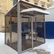 Уличная кабина для курения ArtSV УК8 2,5х2х2,8м, фото 1