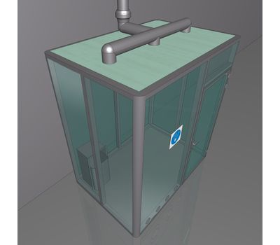 Кабина офисная для курения ArtSV ВК-БФ6 2х2х2,4м, фото 2
