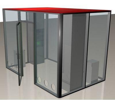 Кабина офисная для курения ArtSV ВК10 3х2х2,4м, фото 1