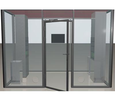 Кабина офисная для курения ArtSV ВК10 3х2х2,4м, фото 3