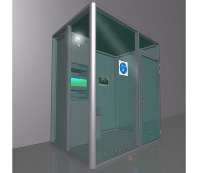 Кабина офисная для курения ArtSV ВК4 1,5х2х2,4м, фото 1