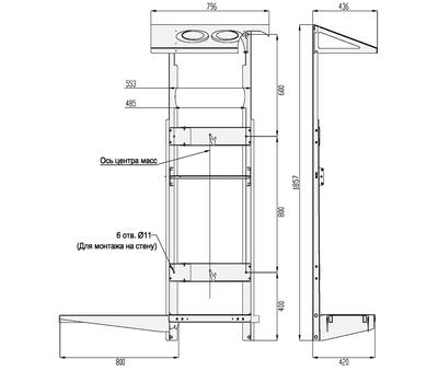 Рама монтажная вертикальная рама для ПВУ-350,500, фото 2