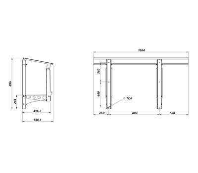 Рама монтажная горизонтальная рама для ПВУ-350,500, фото 2