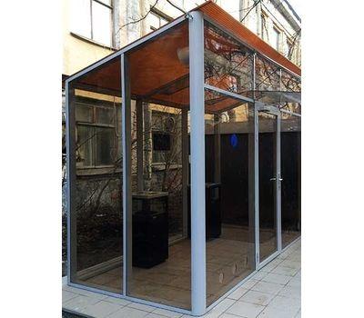 Уличная кабина для курения ArtSV УК-БФ12 3,5х2х2,8м, фото 1