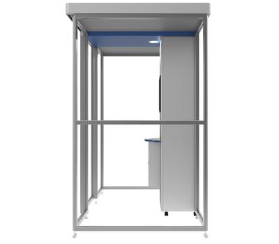 Кабина для курения офисная Airomate ISR-200D 2,04x1,65x2,24м, фото 3