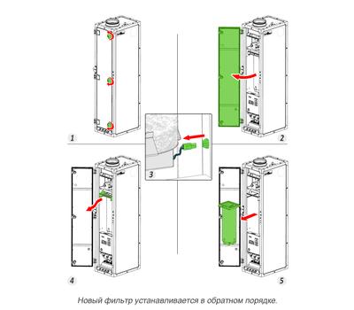 Картридж к фотокаталитическому фильтру DN 180, d120, h440 для ПВУ-350,450, фото 2