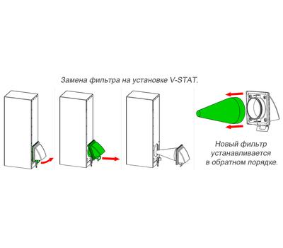 Фильтр пылевой сборный EU7 d100 для V-Stat, фото 2